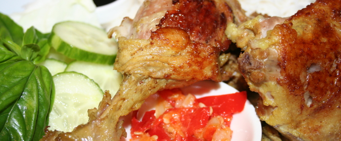 Resep Bebek Goreng Sambal Bawang Putih Enak ~  Fried Duck with Garlic Sambal