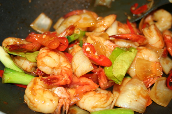 sweet chilli prawns recipe
