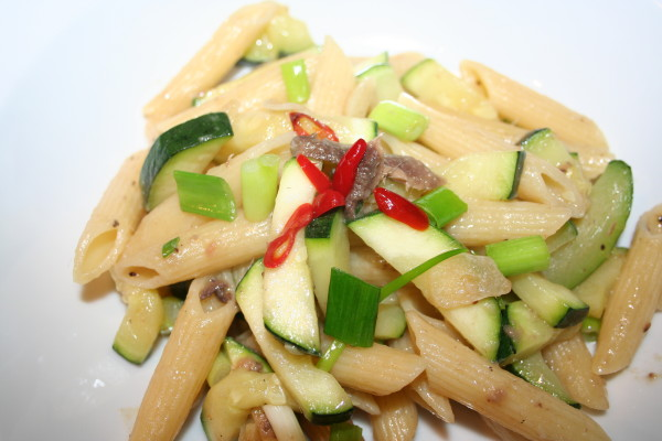 Zucchini and Anchovies Pasta Recipe