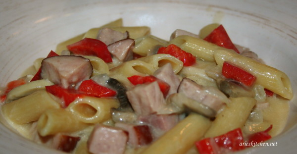 penne pasta and ham recipe