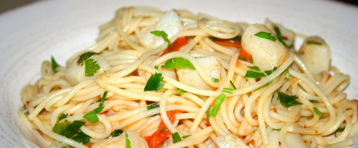 Easy Spaghetti with Scallops Recipe