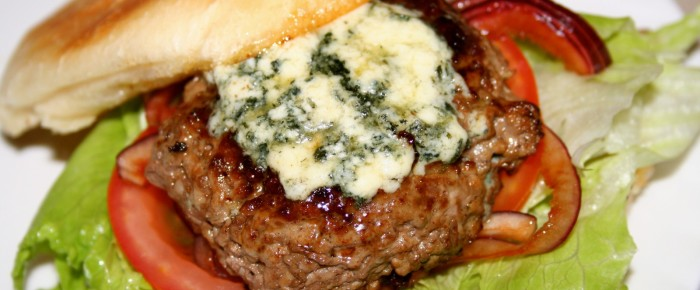 Jamie Oliver's Blue Cheese Burgers Recipe