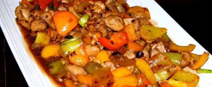 Chicken Capsicum with Black Bean Garlic Sauce Recipe