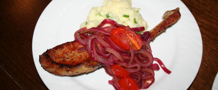 Pork Loin with Cherry Tomatoes in Balsamic Vinegar