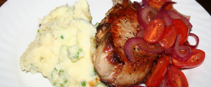 Mashed Potatoes with Cheese and Spring Onion Recipe