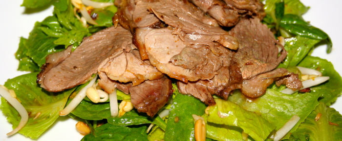 Vietnamese Green Salad with Marinated Lamb Recipe