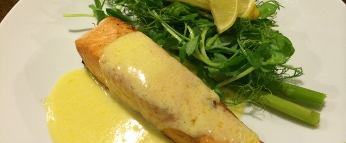 Pan-fried Salmon with White Wine Sauce Recipe