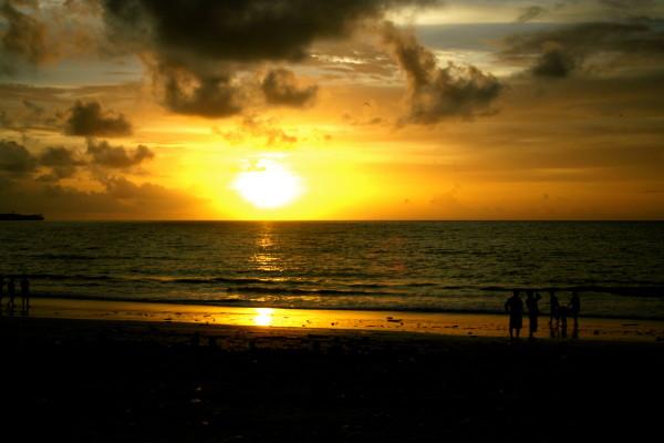 Sunset Seminyak Beach Bali