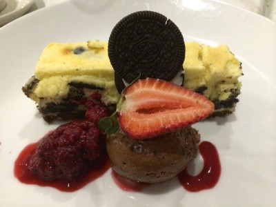 Baked Oreo cheesecake Blue Duck