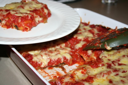 Eggplant vegetarian easy canneloni recipe
