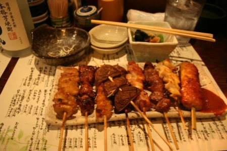 Chicken Yakitori Yurakuco Tokyo Japan Eating Place